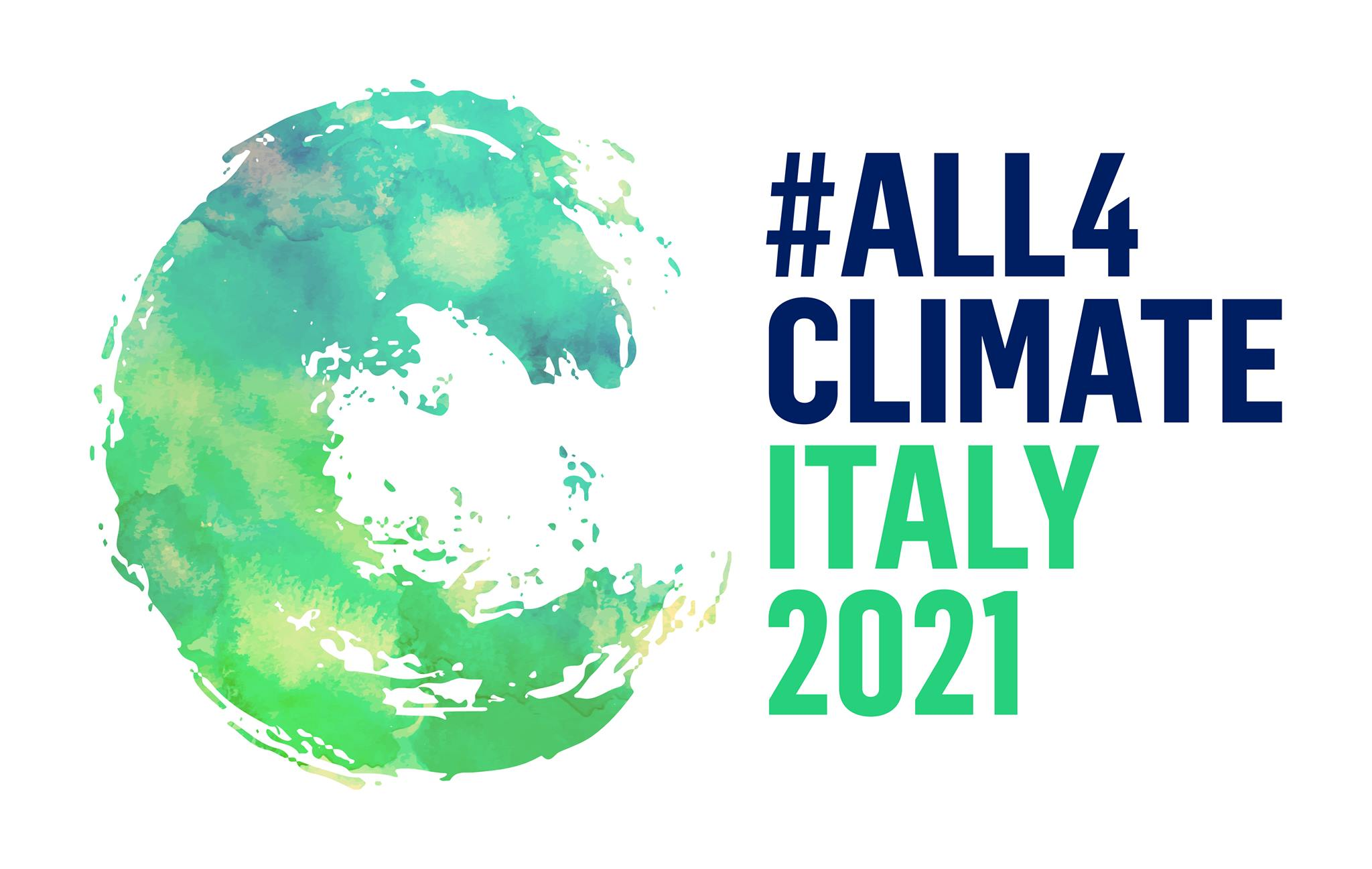 Logo All 4 climate Italy 2021